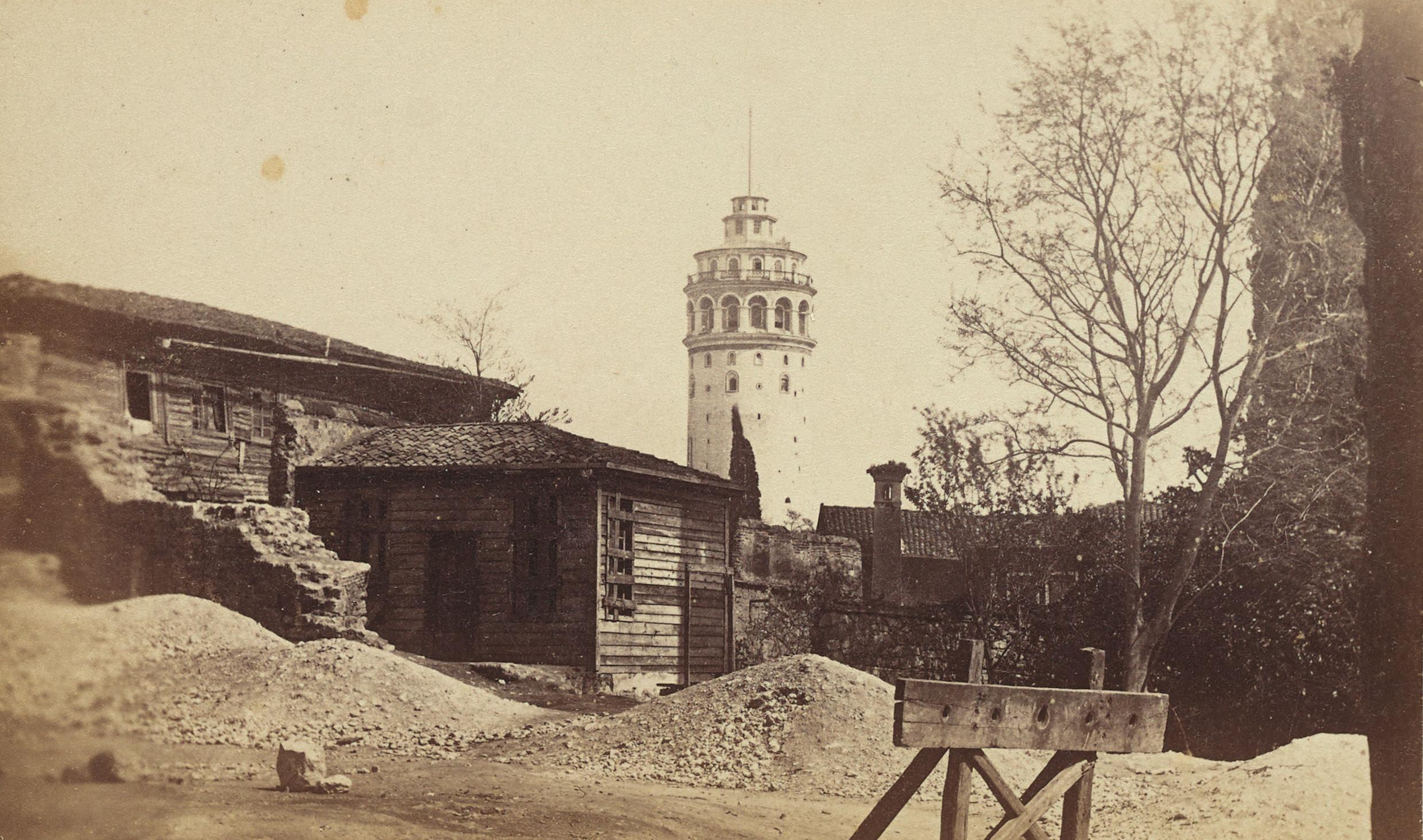 Galata Kulesi / Pascal Sébah Fotoğrafı / 1870