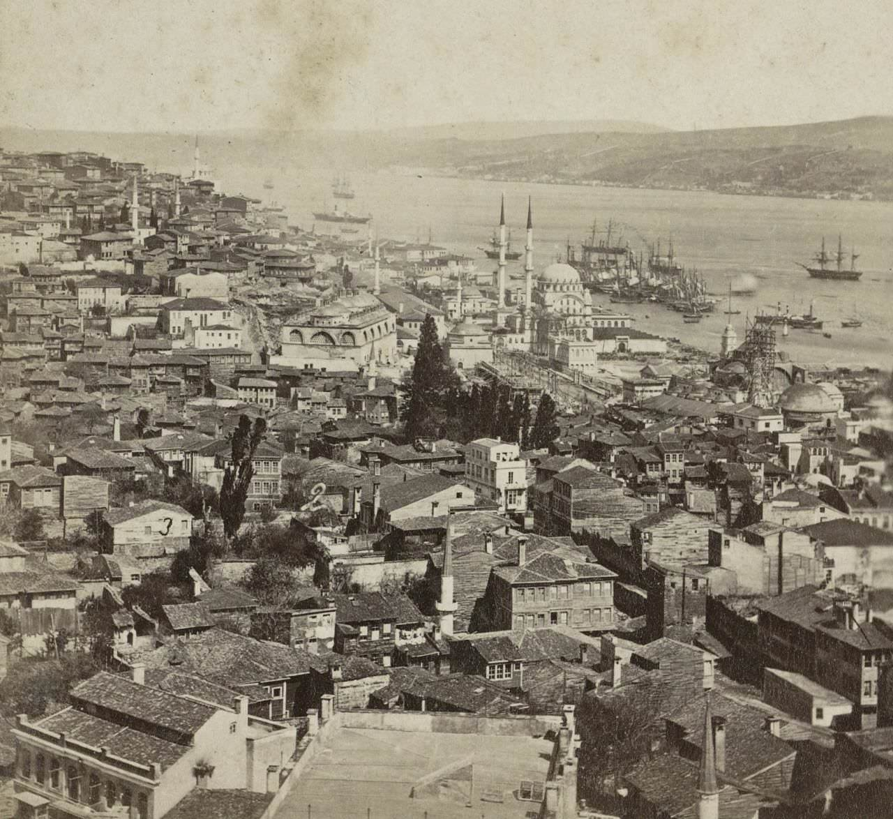 Galata Kulesi'nden Tophane  Sophus Williams & E. Linde & Co. 1860 - 1890