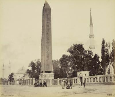 dikilitaş   Eski İstanbul Fotoğrafları Arşivi